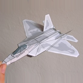 Paper F-22 | Crafting | Paper Crafting | Paper Models