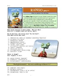 RANGO,  Whole-Movie English (ESL) Lesson | eBooks | Education