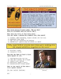 THE KING'S SPEECH,  Whole-Movie English (ESL) Lesson | eBooks | Education