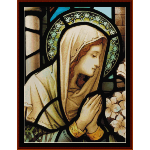 Stained Glass Mary - Religious cross stitch pattern by Cross Stitch Collectibles | Crafting | Cross-Stitch | Wall Hangings