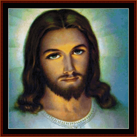 jesus - religious cross stitch pattern by cross stitch collectibles
