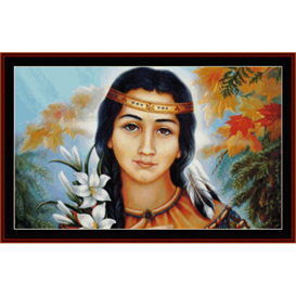 Pocahontas - American History cross stitch pattern by Cross Stitch Collectibles | Crafting | Cross-Stitch | Wall Hangings