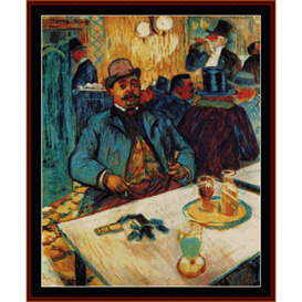 Monsieur Boileau - Lautrec cross stitch pattern by Cross Stitch Collectibles | Crafting | Cross-Stitch | Wall Hangings