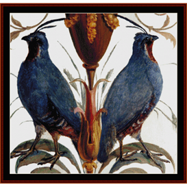 Mountain Quail - Wildlife cross stitch pattern by Cross Stitch Collectibles | Crafting | Cross-Stitch | Wall Hangings