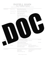 Dave's Word Doc Resume | Documents and Forms | Resumes