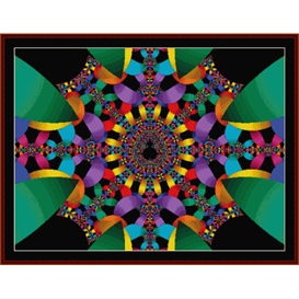 Fractal 349 cross stitch pattern by Cross Stitch Collectibles | Crafting | Cross-Stitch | Other