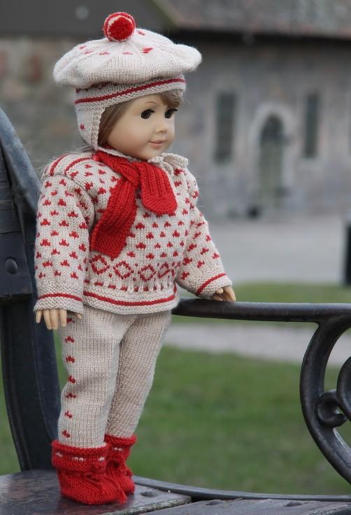Knitting Pattern Doll Socks : DollKnittingPattern - 0073D OLEANA - SWEATER, PANT, SCARF ...