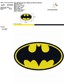 Super Heroes Logo - Embroidery Design | Crafting | Sewing | Other