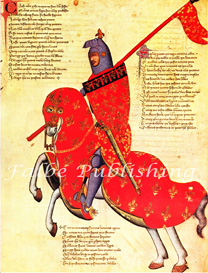 Digital image of red 14th century medieval knight on horse - high res JPEG for worldwide download | Photos and Images | Backgrounds