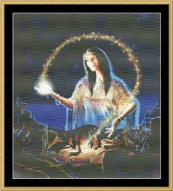Mystical Fire Maiden - Cross Stitch Pattern | Crafting | Cross-Stitch | Other