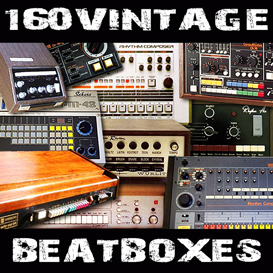 160 vintage drum machine oldschool beatboxes reason kontakt soundfont logic exs24 sample kit | Music | Soundbanks