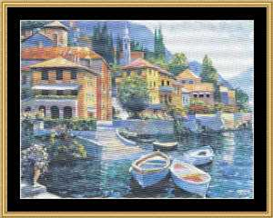 Lake Como Landing - Cross Stitch Pattern | Crafting | Cross-Stitch | Other