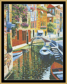 Romantic Canal - Cross Stitch Pattern | Crafting | Cross-Stitch | Other