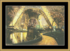 Twilight At The Eiffel Tower - Cross Stitch Pattern | Crafting | Cross-Stitch | Other
