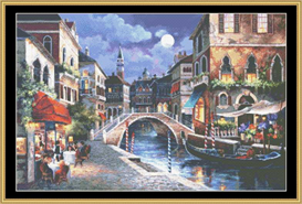 Streets Of Venice Ii - Cross Stitch Pattern | Crafting | Cross-Stitch | Other