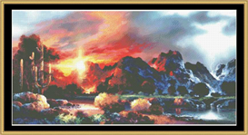 Sunset Spectacular - Cross Stitch Pattern | Crafting | Cross-Stitch | Other