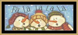 Fa La La La - Cross Stitch Pattern | Crafting | Cross-Stitch | Other