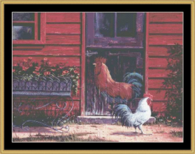 Rooster - Cross Stitch Pattern | Crafting | Cross-Stitch | Wall Hangings
