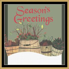 seasons greetings - cross stitch pattern