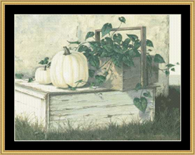 White Pumpkins - Cross Stitch Pattern | Crafting | Cross-Stitch | Other