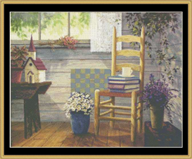 lavender & lace - cross stitch pattern