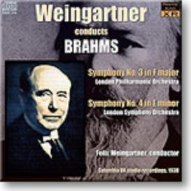 WEINGARTNER conducts Brahms Symphonies 3 and 4, 1938, Ambient Stereo MP3 | Music | Classical
