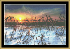 A Winter Sunrise Over The Dune - Cross Stitch Pattern | Crafting | Cross-Stitch | Other