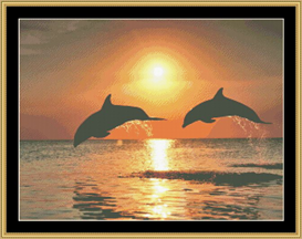 Dolphin Play - Cross Stitch Pattern | Crafting | Cross-Stitch | Other