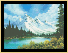a mountain splendor - cross stitch pattern