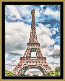 Eiffel Tower - Vibrant Cross Stitch | Crafting | Cross-Stitch | Other