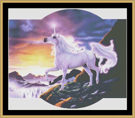 Unicorn Mountain - Cross Stitch Pattern | Crafting | Cross-Stitch | Other