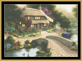 Bridge Cottage - Cross Stitch Pattern | Crafting | Cross-Stitch | Other