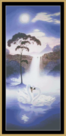 A Swan Waterfall - Cross Stitch Pattern | Crafting | Cross-Stitch | Other