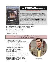 THE TRUMAN SHOW,  Whole-Movie English (ESL) Lesson | eBooks | Education