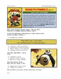 KUNG FU PANDA 2,  Whole-Movie English (ESL) Lesson | eBooks | Education