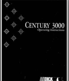 AB DICK Century 3000 Operator's and Parts Manual | Other Files | Documents and Forms