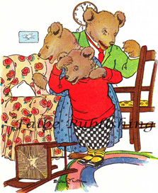 Digital vintage full color image from Three Bears fairy tale - high res JPEG for worldwide download | Photos and Images | Vintage
