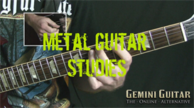 metal guitar studies - classic doom style