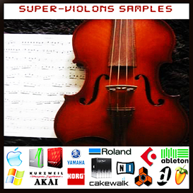 super violon violons reason kontakt logic exs24 soundfont fl studio samples
