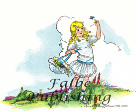 Digital vintage full color image of Goldilocks in meadow - high res JPEG for worldwide download | Photos and Images | Vintage
