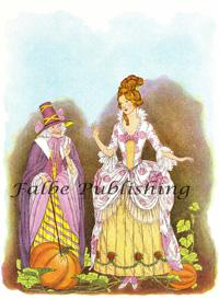 Digital vintage full color image of Cinderella, Fairy Godmother & pumpkin - high res JPEG for worldwide download | Photos and Images | Vintage