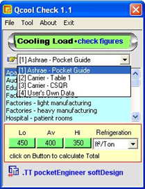 Qcool Check - cooling load check figures
