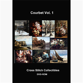 gustave courbet cross stitch collection - 10 cross stitch pattern by cross stitch collectibles