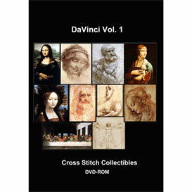 Leonardo DaVinci Vol 1 Cross Stitch Collection - 10 cross stitch pattern by Cross Stitch Collectibles | Crafting | Cross-Stitch | Wall Hangings
