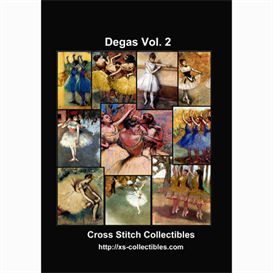 Degas Vol. 2 Cross Stitch Collection - 10 cross stitch pattern by Cross Stitch Collectibles | Crafting | Cross-Stitch | Wall Hangings