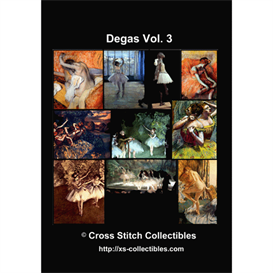 Degas Vol 3 Cross Stitch Collection - 10 cross stitch pattern by Cross Stitch Collectibles | Crafting | Cross-Stitch | Wall Hangings