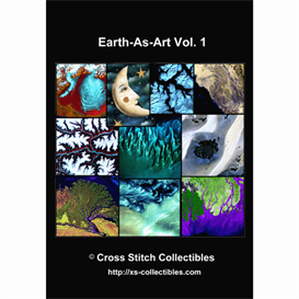 Earth-As-Art Vol. 1 Cross Stitch Collection - 10 cross stitch pattern by Cross Stitch Collectibles | Crafting | Cross-Stitch | Wall Hangings