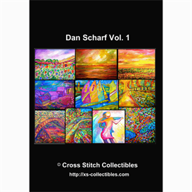 Dan Scharf Vol 1 Cross Stitch Collections - 10 cross stitch pattern by Cross Stitch Collectibles | Crafting | Cross-Stitch | Other