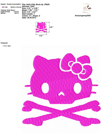 Hello Kitty New Trend Embroidery Design | Crafting | Sewing | Other