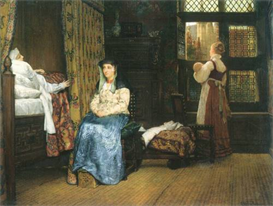 Image Photo A birth Chamber, Seventeenth Century Alma-Tadema | Photos and Images | Vintage